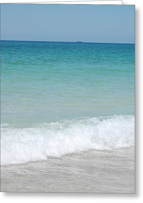 Sea Of Blue Greeting Card by May Photography
