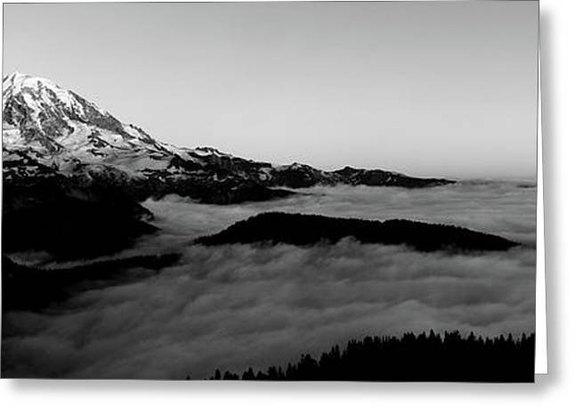Sea Of Clouds With Mountains Greeting Card by Panoramic Images