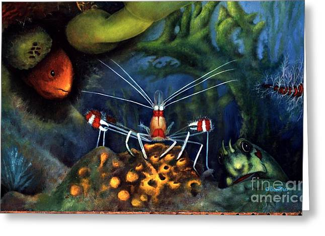 Sea Shrimp Greeting Card