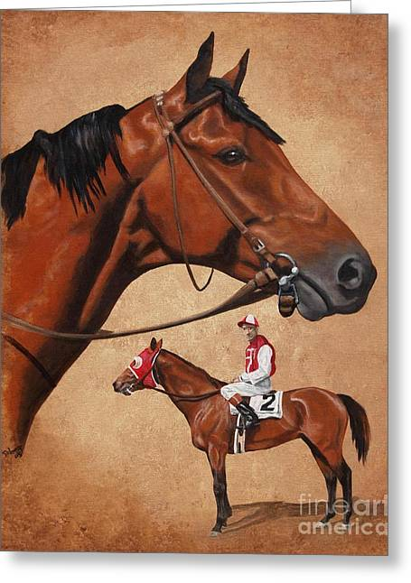 Seabiscuit Greeting Card by Pat DeLong