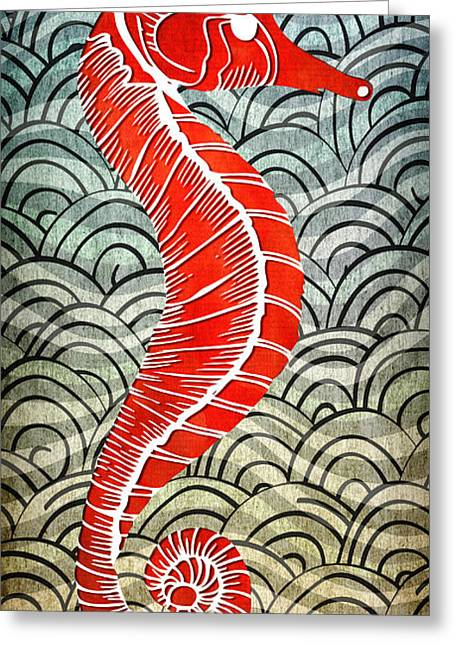Seahorse Greeting Card by Terry Fleckney