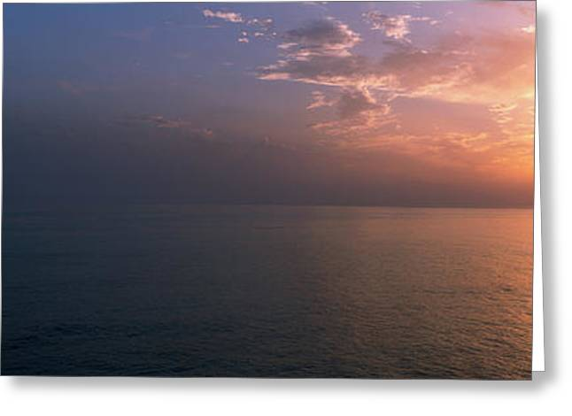 Seascape The Algarve Portugal Greeting Card by Panoramic Images
