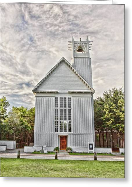 Seaside Chapel Greeting Card by Scott Pellegrin