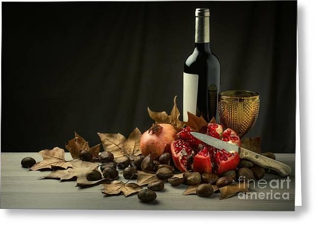 Seasonal Still-life Greeting Card by Carlos Caetano