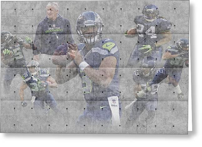 Seattle Seahawks Team Greeting Card