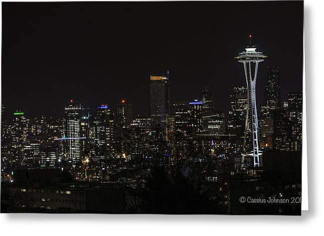 Seattle Skyline 1 Greeting Card
