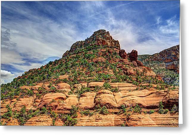 Sedona Arizona Mountain Scenery Greeting Card by Jon Berghoff