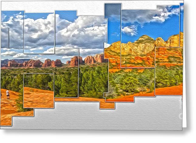 Sedona Arizona - Submarine Rock Greeting Card by Gregory Dyer