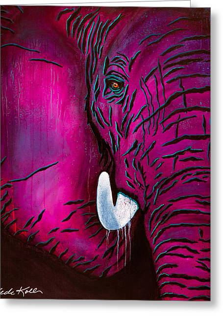 Seeing Pink Elephants Greeting Card