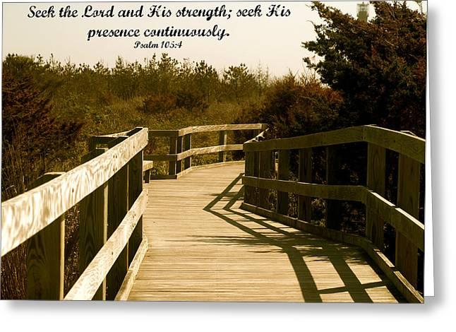 Seek The Lord Greeting Card by Roseann Errigo