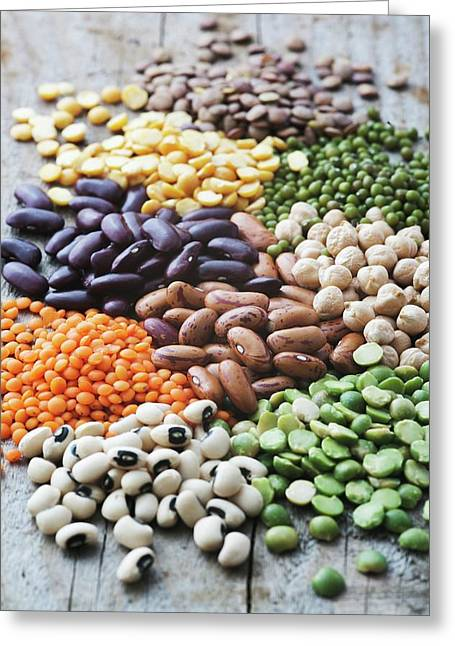 Selection Of Beans Greeting Card