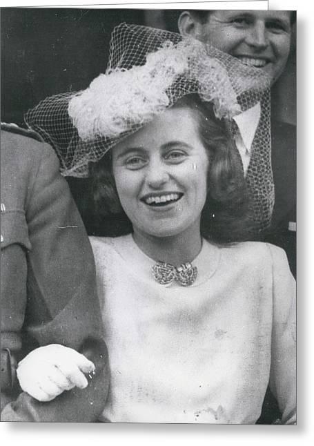 Senator Robert Kennedy's Sister Kathleen Greeting Card