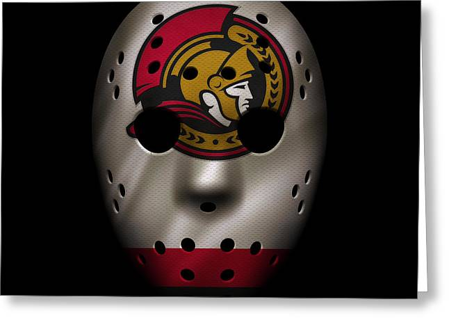 Senators Jersey Mask Greeting Card