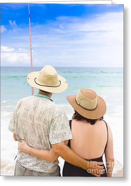 Senior Couple On Holiday Greeting Card