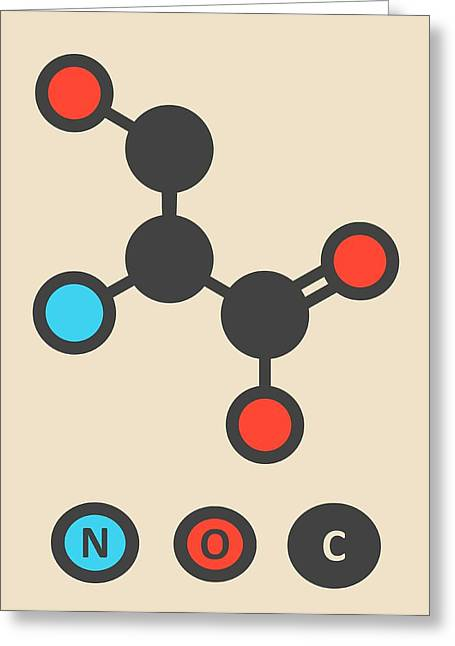 Serine Amino Acid Molecule Greeting Card by Molekuul