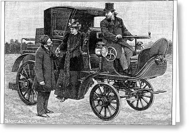 Serpollet Steam Car Greeting Card