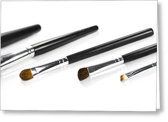 Set Of Makeup Brushes Greeting Card by Jorgo Photography - Wall Art Gallery