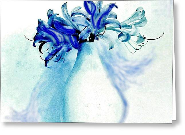 Seven Lilies From Heaven Greeting Card by Marsha Heiken