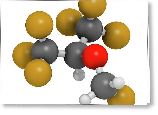 Sevoflurane Anesthetic Molecule Greeting Card