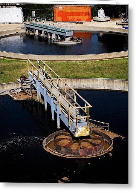 Sewerage Treatment Facility Greeting Card by Photostock-israel