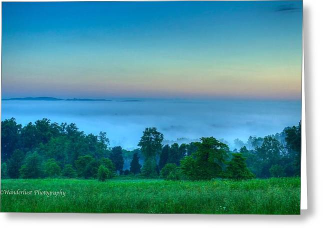 Shaconage Land Of The Blue Smoke Greeting Card by Paul Herrmann