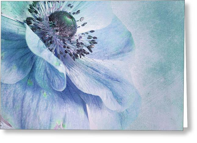 Shades Of Blue Greeting Card by Priska Wettstein