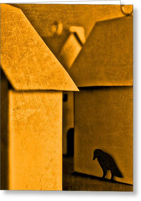 Greeting Card featuring the photograph Shadow Of A Crow by Jeff  Gettis