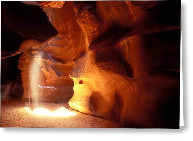 Shaft Of Light Greeting Card by Garry Gay