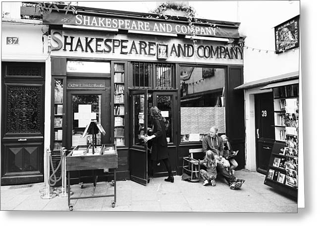 Shakespeare And Company Bookstore In Paris France Greeting Card