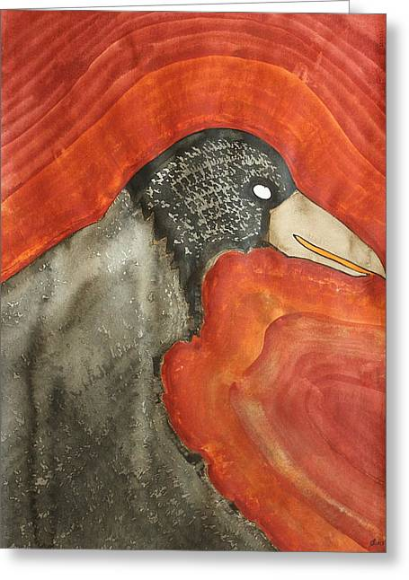 Shaman Original Painting Greeting Card by Sol Luckman