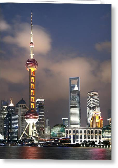 Shanghai By Night Greeting Card