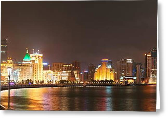 Shanghai Waitan Night Greeting Card