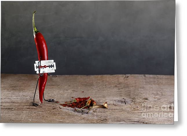 Sharp Chili Greeting Card