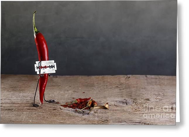Sharp Chili Greeting Card by Nailia Schwarz