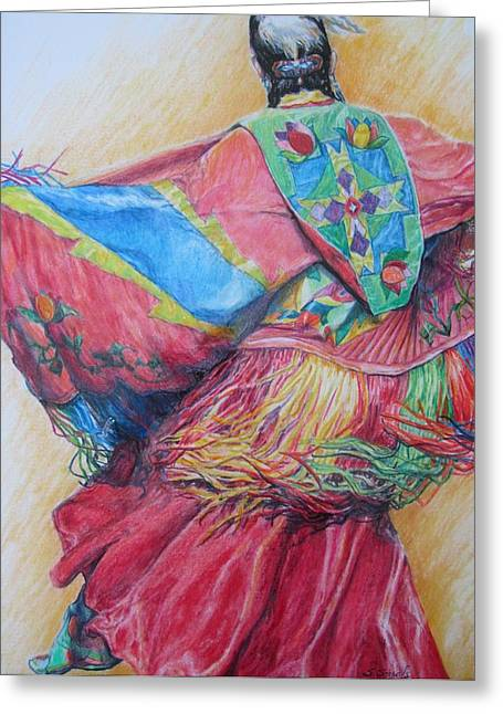Shawl Dancer Greeting Card