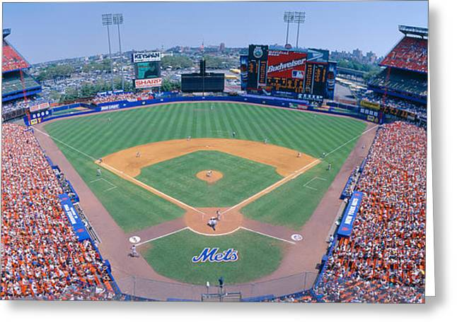Shea Stadium, Ny Mets V. Sf Giants, New Greeting Card by Panoramic Images
