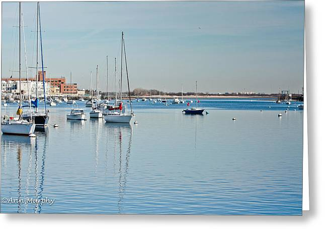 Greeting Card featuring the photograph Sheepshead Bay Harbor by Ann Murphy