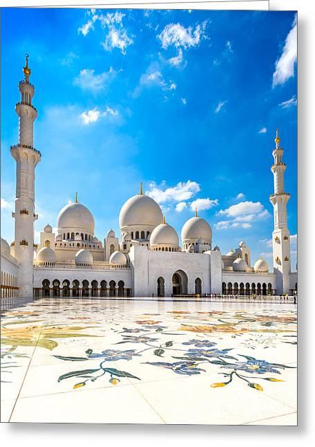 Sheikh Zayed Mosque - Abu Dhabi - Uae Greeting Card by Luciano Mortula