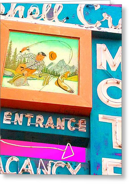 Shell Crest Motel Color Greeting Card by Gail Lawnicki