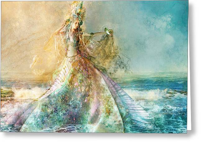 Shell Maiden Greeting Card by Aimee Stewart
