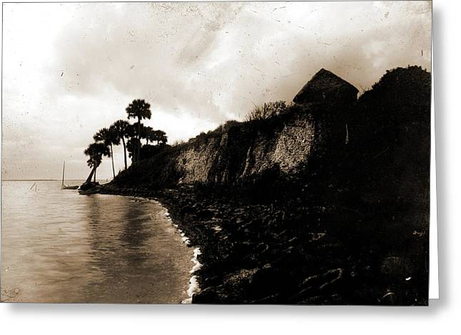Shell Mound Barkers Bluff, Indian River, Jackson, William Greeting Card