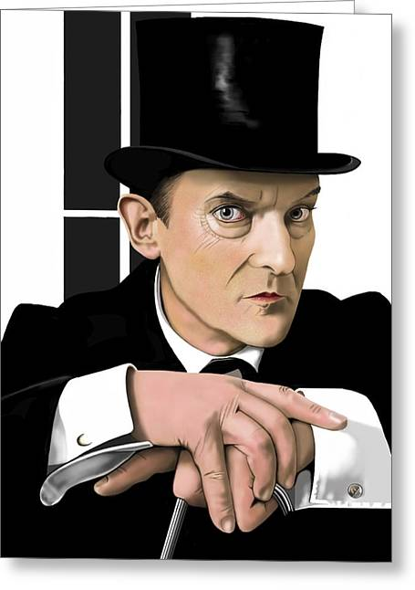 Sherlock Holmes Greeting Card by Andrew Harrison