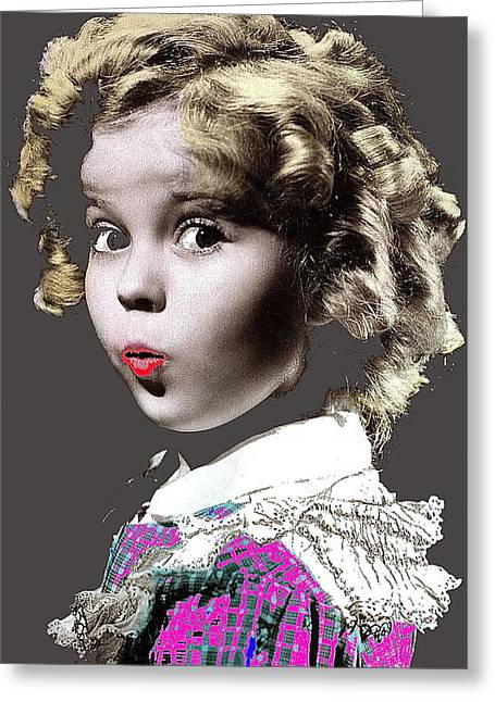 Shirley Temple Publicity Photo Circa 1935-2014 Greeting Card by David Lee Guss
