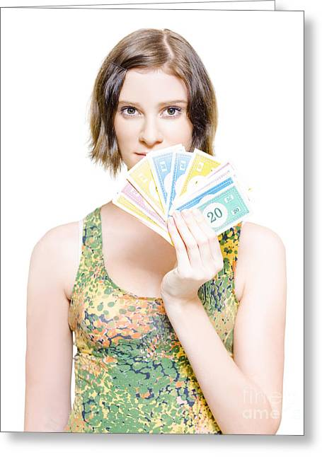 Shopping Savings And Retail Discounts Greeting Card