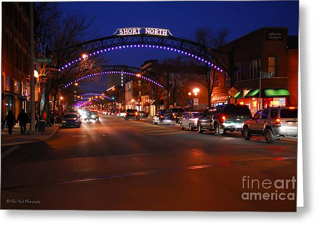D8l353 Short North Arts District In Columbus Ohio Photo Greeting Card