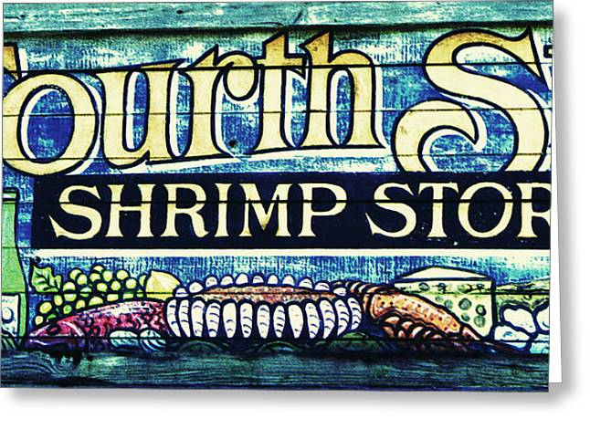 Shrimp Store Greeting Card by Laurie Perry