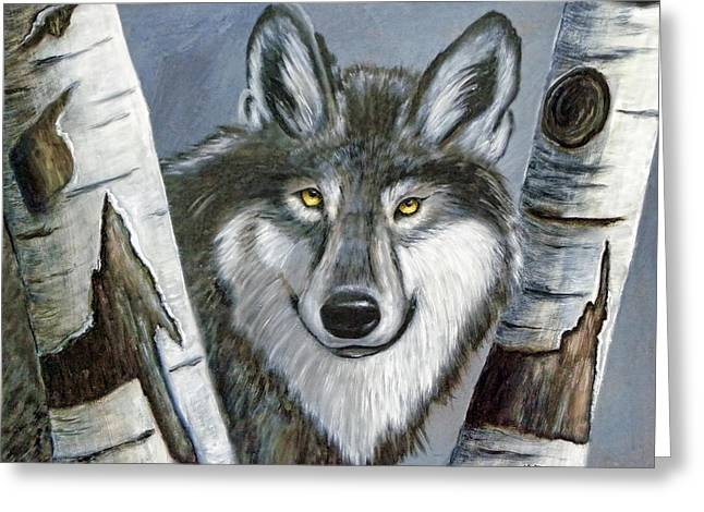 Silent Watcher Greeting Card by Kenny Francis