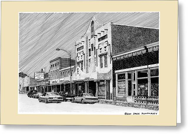 Silver City New Mexico Greeting Card by Jack Pumphrey