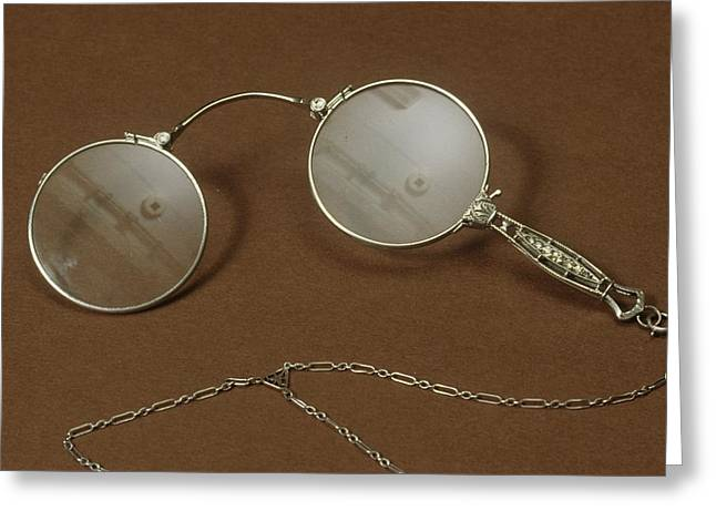 Silver Lorgnette Greeting Card by Science Photo Library