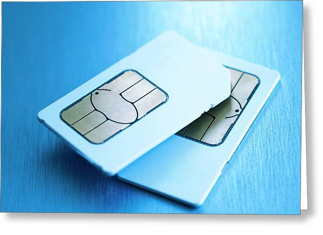 Sim Cards Greeting Card by Science Photo Library